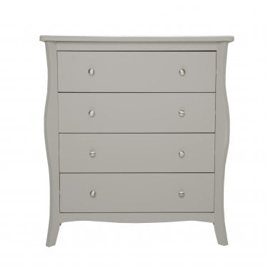 Highland Home JB Assembled Curved Grey Painted 4 Drawer Chest