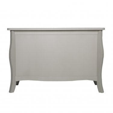 Highland Home JB Assembled Curved Grey Painted Storage Trunk