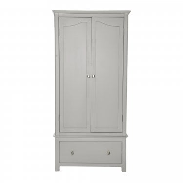 Highland Home LB Assembled Grey Painted 1 Drawer 2 Door Wardrobe