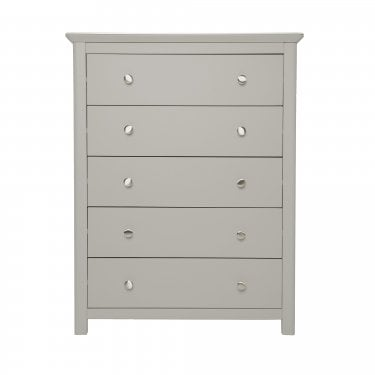 Highland Home LB Assembled Grey Painted Wide 5 Drawer Chest