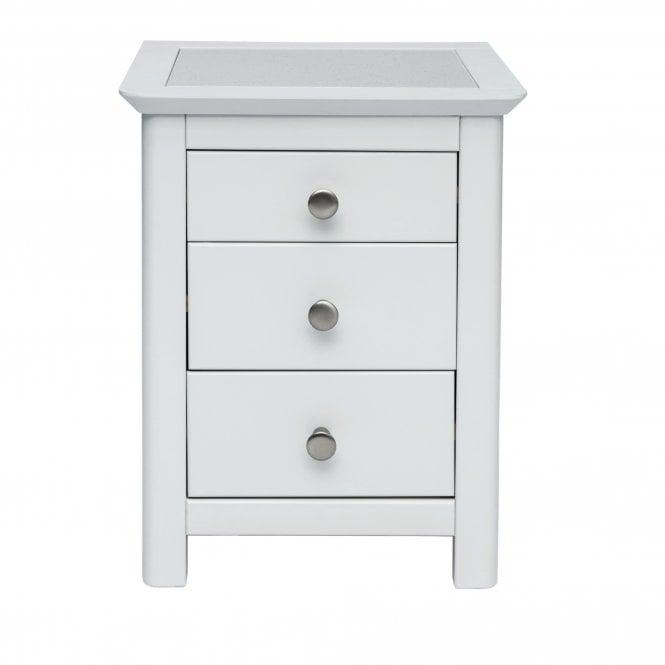 Highland Stirling 3 Drawer Bedside Cabinet, Stone Grey