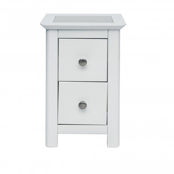 Highland Stirling Petite 2 Drawer Bedside Cabinet, Stone Grey