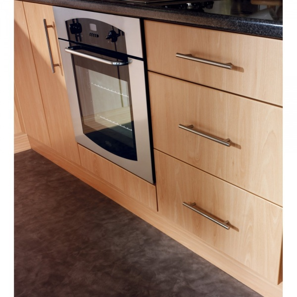 Beech Slab Double Door Kitchen Base Unit At Www