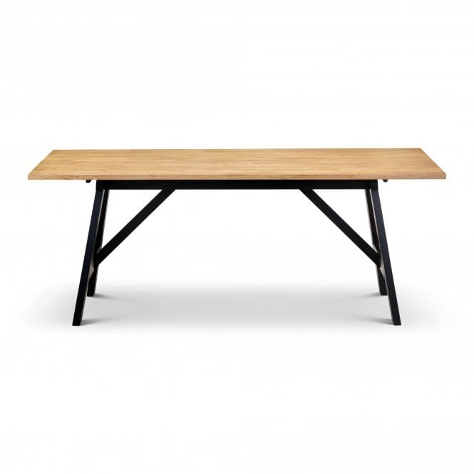 Hockley Rectangular Dining Table, Black & Oak