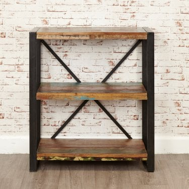 Hoffman Low Bookcase, Reclaimed Wood