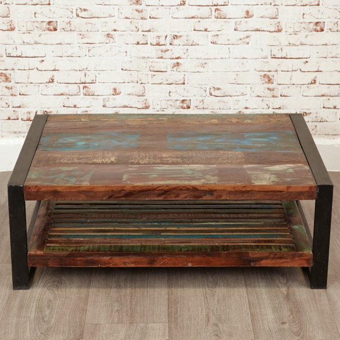 Hoffman Rectangular Coffee Table, Reclaimed Wood