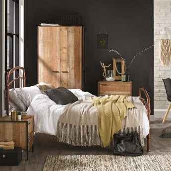 LPD Furniture Hoxton Bedroom Set, Distressed Oak
