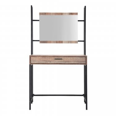 Hoxton Distressed Oak Dressing Table & Mirror