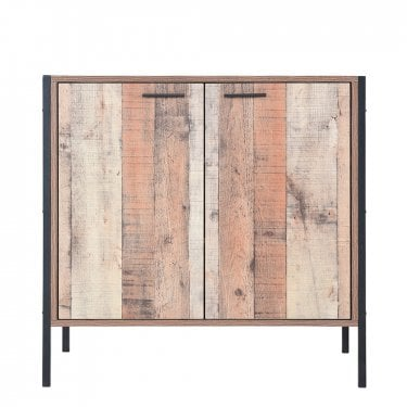 Hoxton Distressed Oak Shoe Cabinet
