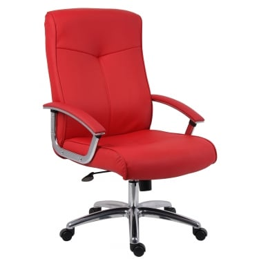 Hoxton Red Executive Chair with Chrome Base