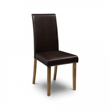 Hudson Brown Faux Leather Dining Chair