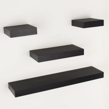 Hudson Foiled Matt Black Narrow Shelf Kit