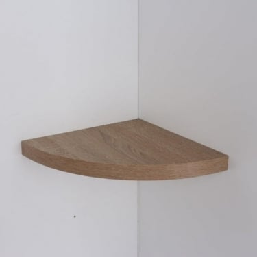 Hudson Foiled Oak 295x295mm Corner Shelf Kit