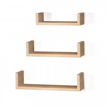 Hudson Foiled Oak Floating 'U' Shape Shelf Kit