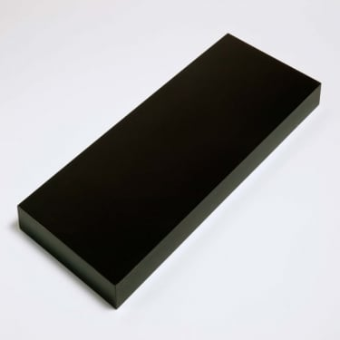 Hudson Gloss Foiled Black 900x240mm Shelf Kit