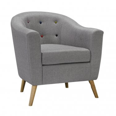 Hudson Grey Armchair