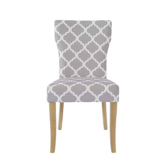 Hugo Dining Chair Set Of 2, Grey & Fabric