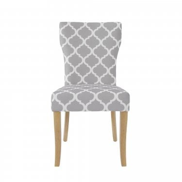 Hugo Grey/White Dining Chair Pair