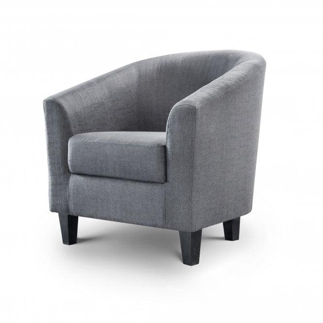 Hugo Tub Chair, Slate Grey Linen