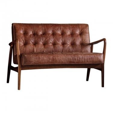 Humber Sofa, Brown & Leather