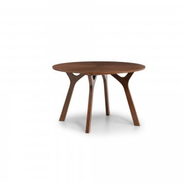 Huxley Walnut Round Dining Table