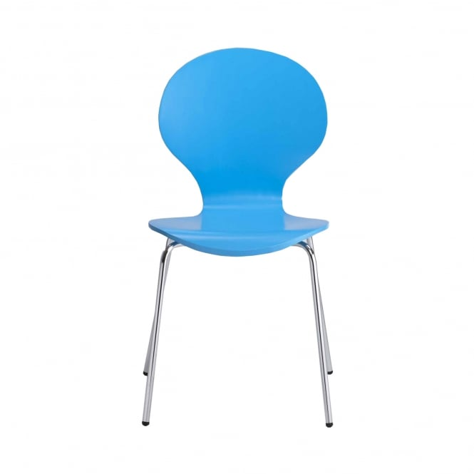 Ibiza Dining Chair Set Of 4, Blue & Plastic