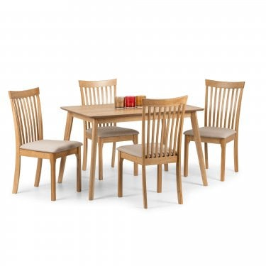 Ibsen Dining Set Of 4, Oak
