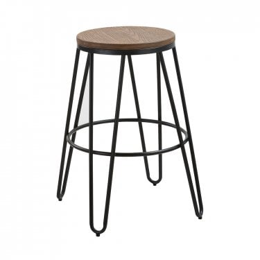 Ikon Oak & Black Bar Stool
