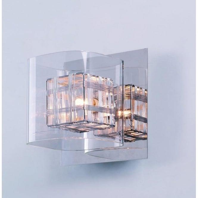 Impex lighting avignon chrome 1lt indoor wall light with 1 clear impex lighting avignon chrome 1lt indoor wall light with 1 clear glass cube shade pgh01515 aloadofball Gallery