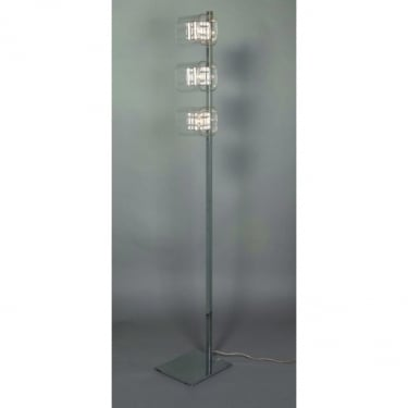 Impex Lighting Avignon Chrome with Clear Glass Floor Lamp