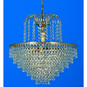 Impex Lighting Bonn 5 Light Strass Tiered Chandelier
