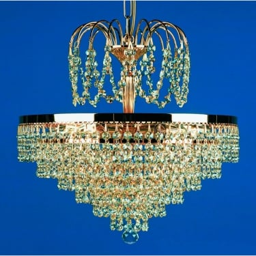 Impex Lighting Bremen 5 Light Strass Tier And Crown Chandelier