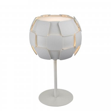 Impex Lighting Brigitte White 1Lt Indoor Table Lamp (PG504241/01/TL/WH)