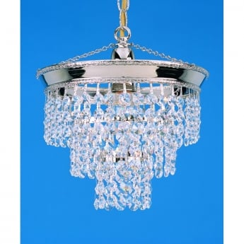Impex Lighting Brunswick 1 Light Lead Crystal Strass 3 Tier Chandelier