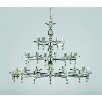 Impex Lighting Capri 28 Light Chandelier With Optic Glass Pins