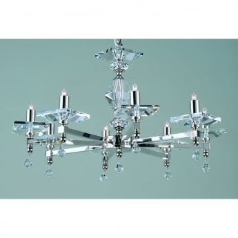 Impex Lighting Capri 8 Light Chandelier With Optic Glass Pins