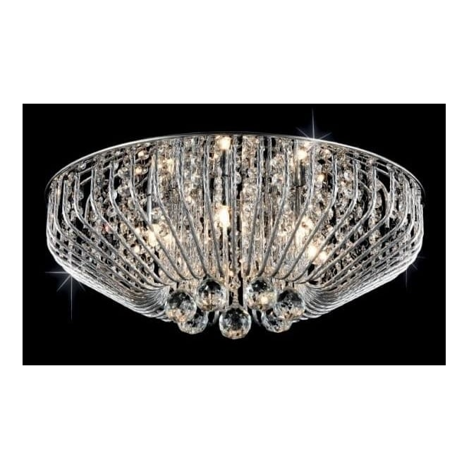 Impex lighting carlo chrome 6lt indoor flush ceiling light with impex lighting carlo chrome 6lt indoor flush ceiling light with clear glass details cfh508052 mozeypictures Choice Image