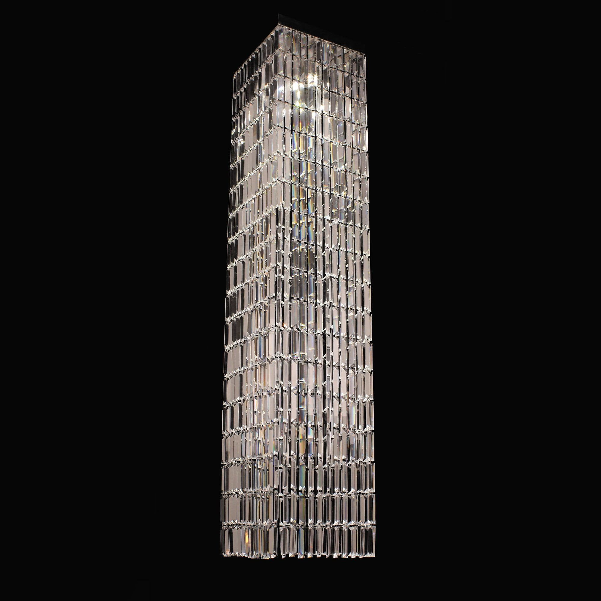 impex lighting crystal art 4 lt square chrome ceiling pendant leader