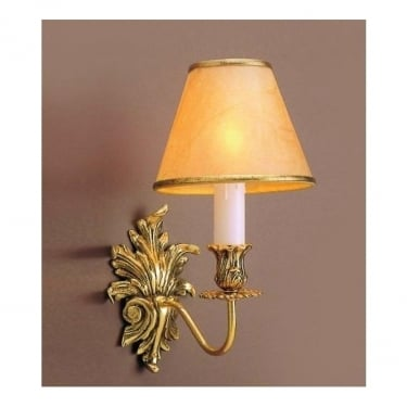 Impex Lighting Dauphine 1 Light Polished Brass Wall Light