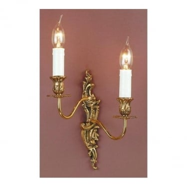 Impex Lighting Dauphine Polished Brass 2Lt Indoor Wall Light (SMBB00182AL/PB)