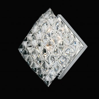 Impex Lighting Diamond Chrome with Lead Crystal Angled Wall Light
