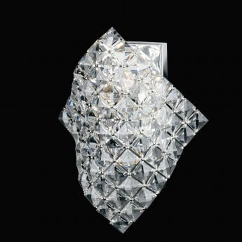 Impex Lighting Diamond Chrome with Lead Crystal Wall Light