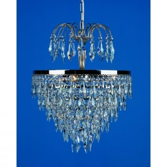 Impex Lighting Dresden 3 Light Strass Tier And Crown Pendant Light