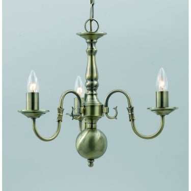 Impex Lighting Flemish 3 Light Chandelier