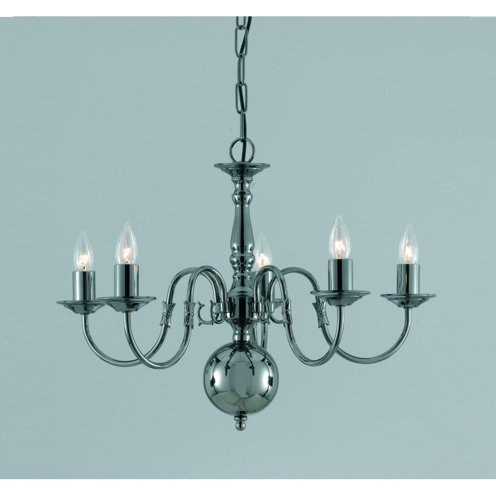 Impex Flemish 5 Light Chandelier At Leader Stores