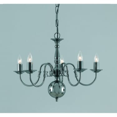 Impex Lighting Flemish 5 Light Chandelier