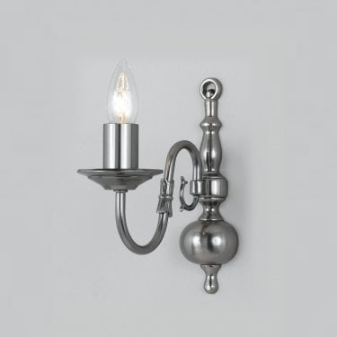 Impex Lighting Flemish Pewter 1Lt Indoor Wall Light (BF00350/01/WB/PW)
