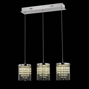 Impex Lighting Florina Chrome 3Lt Indoor Bar Pendant Light (LED608242/03/CH)