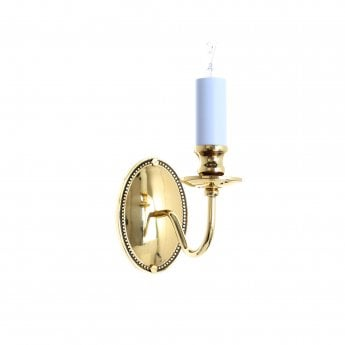 Impex Lighting Georgian 1 Light Polished Brass Wall Light