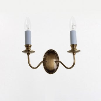Impex Lighting Georgian 2 Light Bronze Wall Light